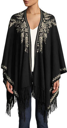 Johnny Was Lennon Embroidered Cashmere Cape