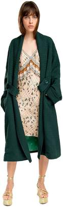 Max Studio jacquard topper coat