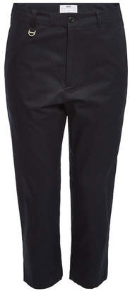 Oamc Cropped Cotton Pants with Zippers