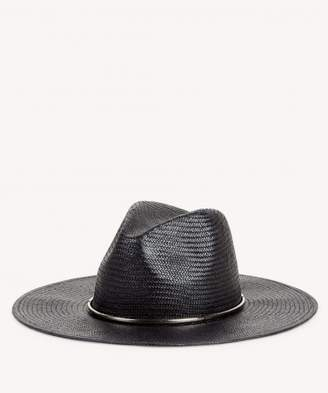 0e052c20ea1 Sole Society Wide Brim Straw Hat with Metal Band