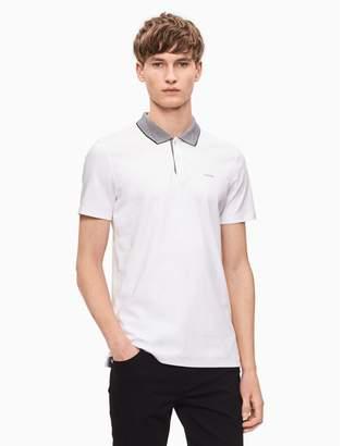 Calvin Klein slim fit yarn-dyed polo shirt