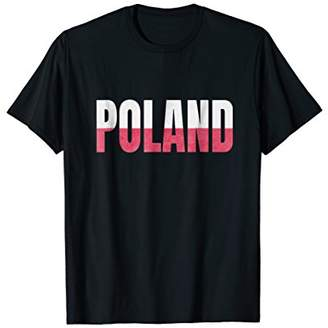 Poland Flag Shirt distressed Letter Typography T-Shirt