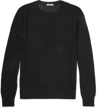 Bottega Veneta Open-Knit Silk Sweater