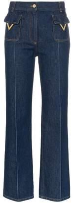 Valentino V detail front pocket jeans