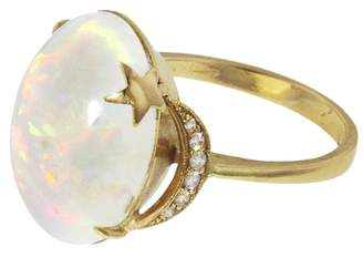 Andrea Fohrman Opal Crescent Moon And Star Ring