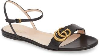 Gucci Marmont Quarter Strap Flat Sandal
