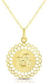 Sphera Milano 14k Italian Angel Doily Necklace