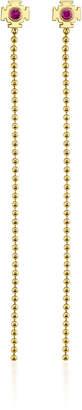 Ark 18K Gold Pink Sapphire Earrings