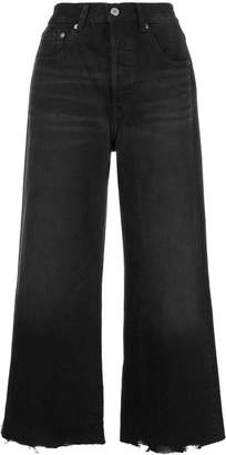Levi's cropped flared jeans