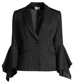 Milly Metallic Pinstripe Blazer