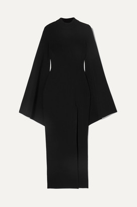 SOLACE London Stretch-knit Maxi Dress - Black