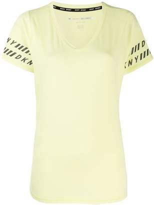 DKNY logo trim T-shirt
