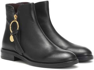 See by Chloe Louise Flat leather ankle boots