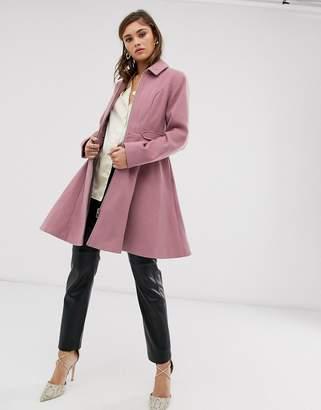 Asos Design DESIGN swing coat with zip front