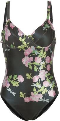 Cynthia Rowley Sandi Metallic Rose Swimsuit