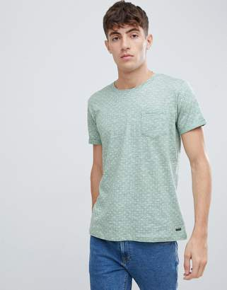 Esprit pique t-shirt with all over print