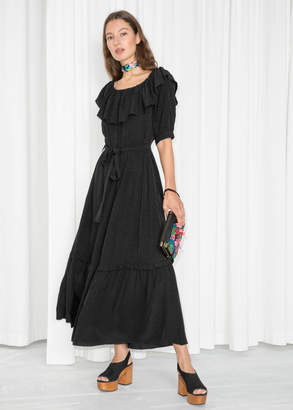 And other stories Off Shoulder Ruffle Maxi Dress