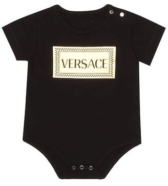 Versace Printed stretch-cotton bodysuit