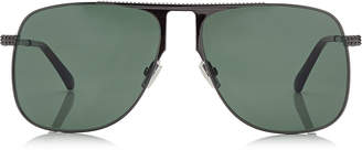 Jimmy Choo DAN Dark Ruthenium Square Frame Sunglasses with Green Lenses