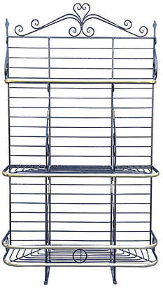 One Kings Lane Vintage French Iron & Brass Baker's Rack - Faded Rose Antiques LLC