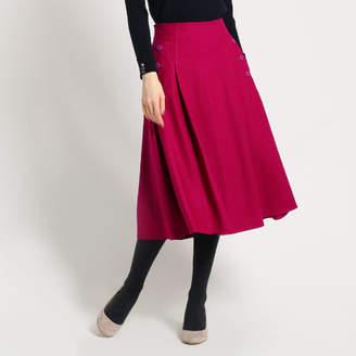 Dessin (デッサン) - Dessin(Ladies) フラノ ボックスタック スカート