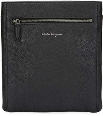 Salvatore Ferragamo Men's Firenze Leather Crossbody Bag