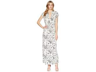 Lucky Brand Printed Rib Dress Women's Dress