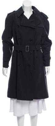 Burberry Wool Knee-Length Trench Coat