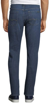 7 For All Mankind Slimmy Straight-Leg JeansSlim Blue Jeans