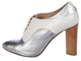 The Office of Angela Scott Metallic Leather Booties