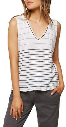 O'Neill Ricki Stripe Cotton & Linen Tank