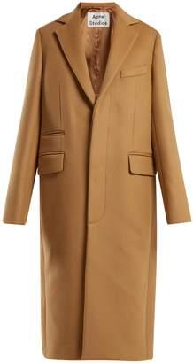 Acne Studios Single-breasted wool-blend coat