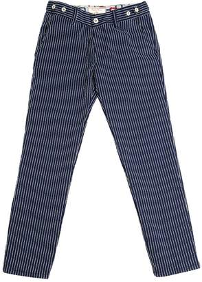 Myths Stripes Embroidered Cotton Twill Pants