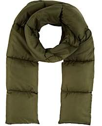 Barneys New York WOMEN'S QUILTED MUFFLER - OLIVE