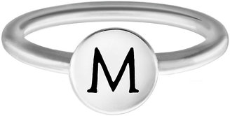 Chamilia Sterling Silver M Alphabet Disc Ring Size J