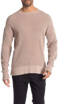 AllSaints Forram Distressed Long Sleeve Sweater