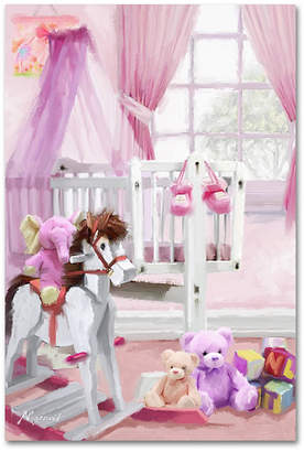 The Macneil Studio 'Baby Girl's Cot' Canvas Art, 16x24""