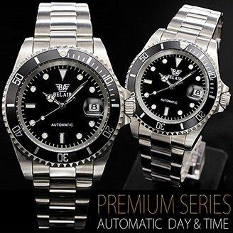 Bel Air [ベルエア 腕時計 BCG54 (ステンレス) ミッドサイズフェイス フルステンレス 日付カレンダー付き メンズ