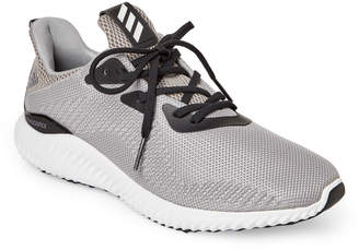 adidas Grey & Black Alphabounce 1 Running Sneakers