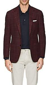 Sartorio Men's PG Windowpane Wool-Silk Two-Button Sportcoat - Blue