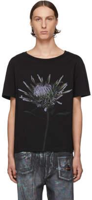 Maison Margiela Black Flower Print T-Shirt