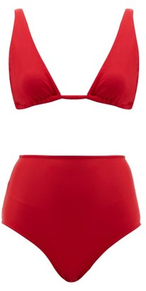 Adriana Degreas Triangle High Rise Bikini - Womens - Red
