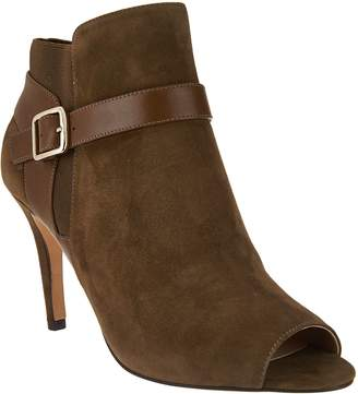Marc Fisher Leather or Suede Peep-toe Ankle Boots - Shimmee