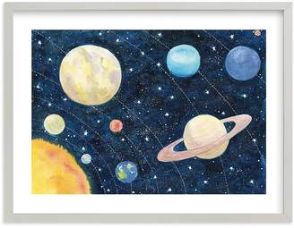 Pottery Barn Kids Solar System Wall Art by Minted® 14x11, White