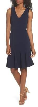 Vince Camuto Ruffle Hem Body-Con Dress