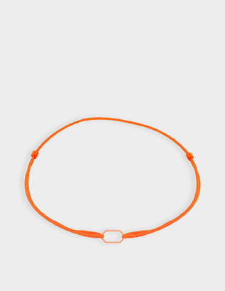 Chibcha Retro Bracelet with Orange Cord in 18K Rose Gold