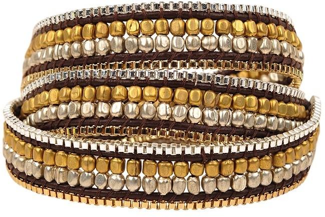 Nakamol Thin Beaded Wrap Bracelet