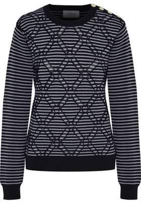 Derek Lam 10 Crosby Striped Jacquard Cotton Sweater