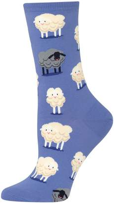 Hot Sox Women's Novelty Sheep Crew Socks