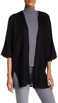 Max Studio Bell Sleeve Waffle Knit Cardigan Sweater $98 thestylecure.com